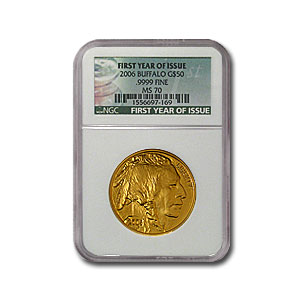 2006 1 oz Gold Buffalo MS-70 NGC (First Year of Issue)