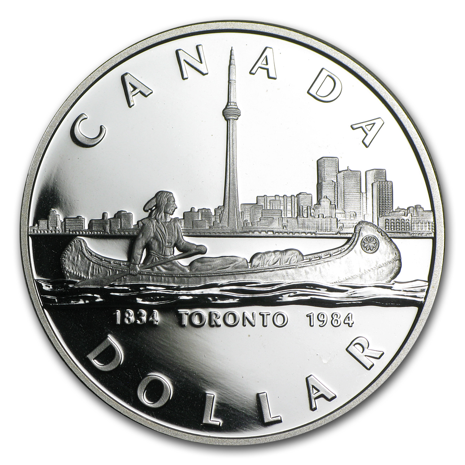 1984 Silver Canadian Proof Dollar - 150th Anniv. of Toronto