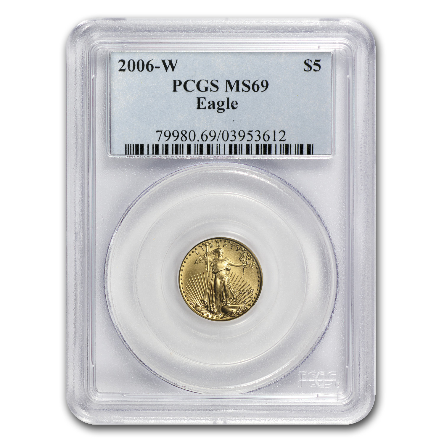 2006-W 1/10 oz Burnished Gold American Eagle MS-69 PCGS