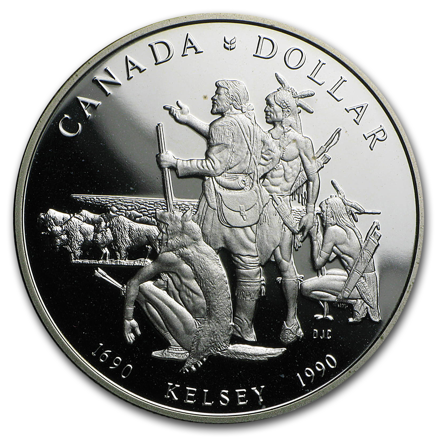 1990 Canada Silver Dollar Kelsey Proof Canadian Silver