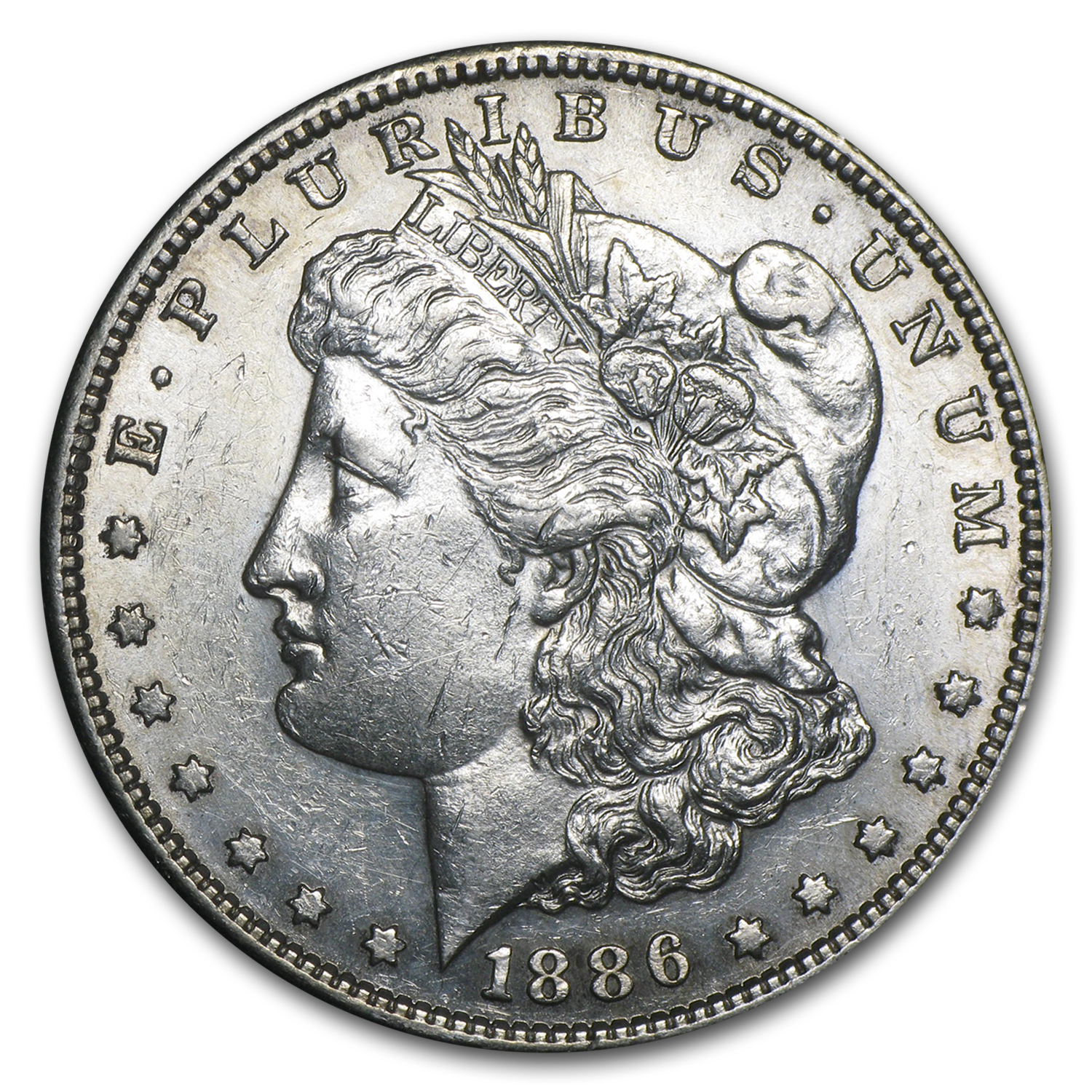 1886-S Morgan Dollar - Almost Uncirculated