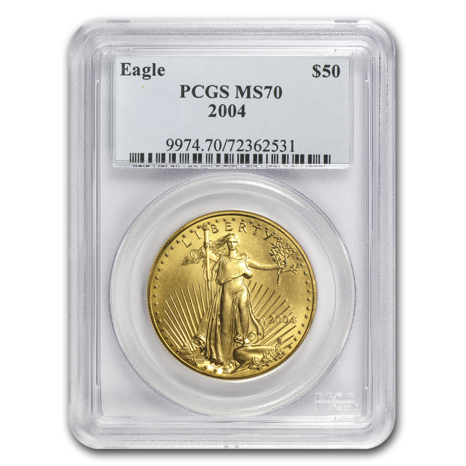 2004 1 oz Gold American Eagle MS-70 PCGS