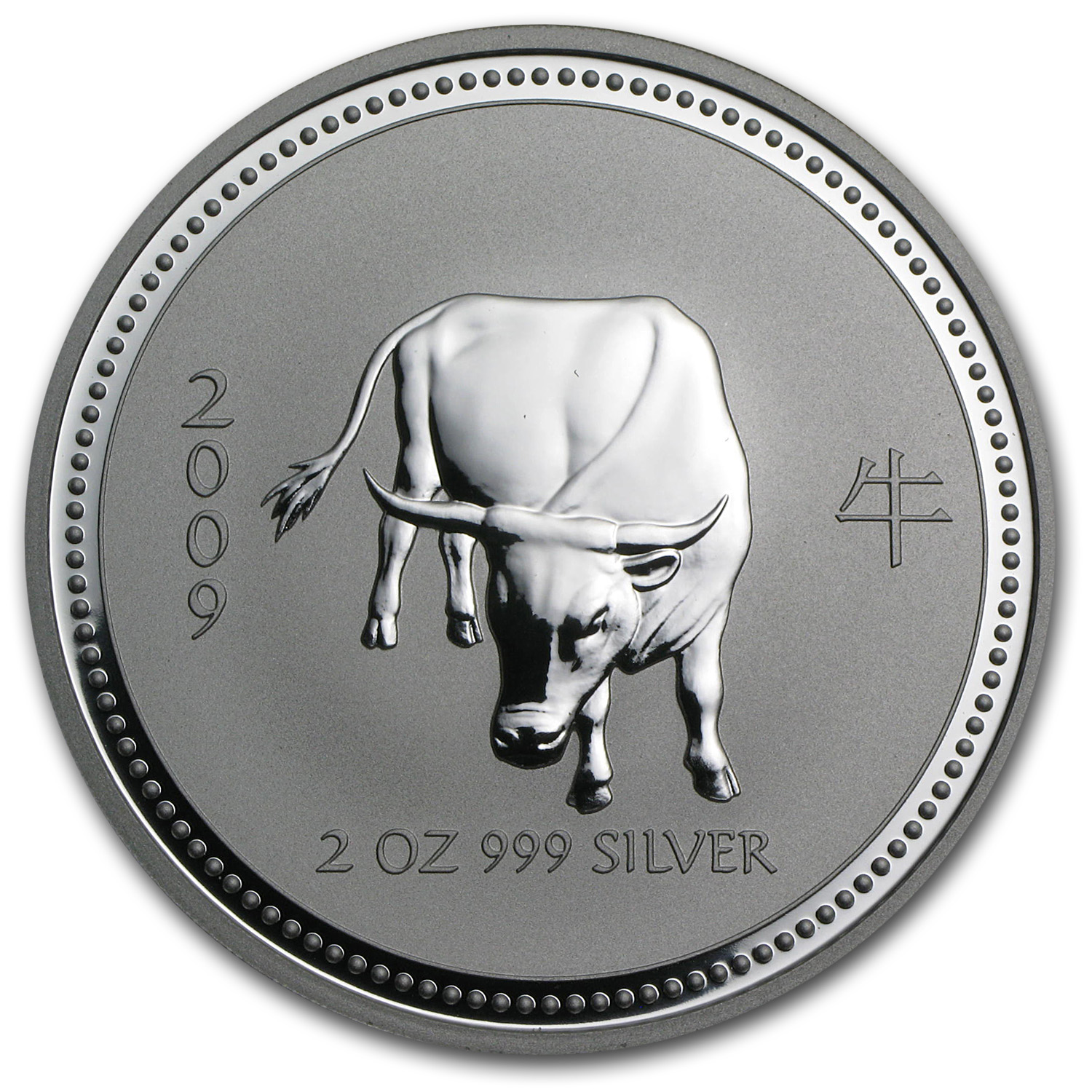 2009 Australia 2 oz Silver Year of the Ox BU (Series I)