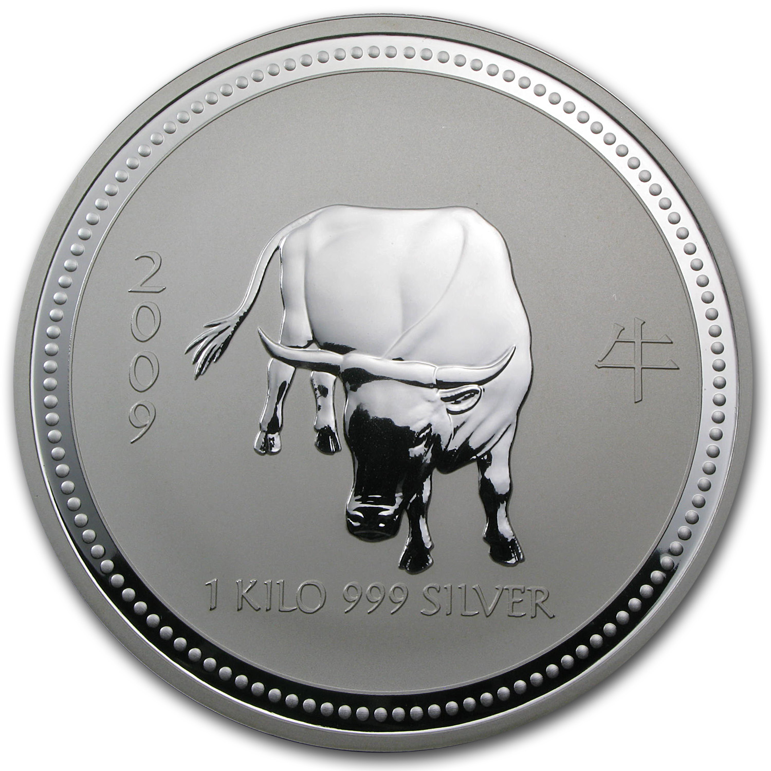 2009 Australia 1 kilo Silver Year of the Ox BU (Series I)