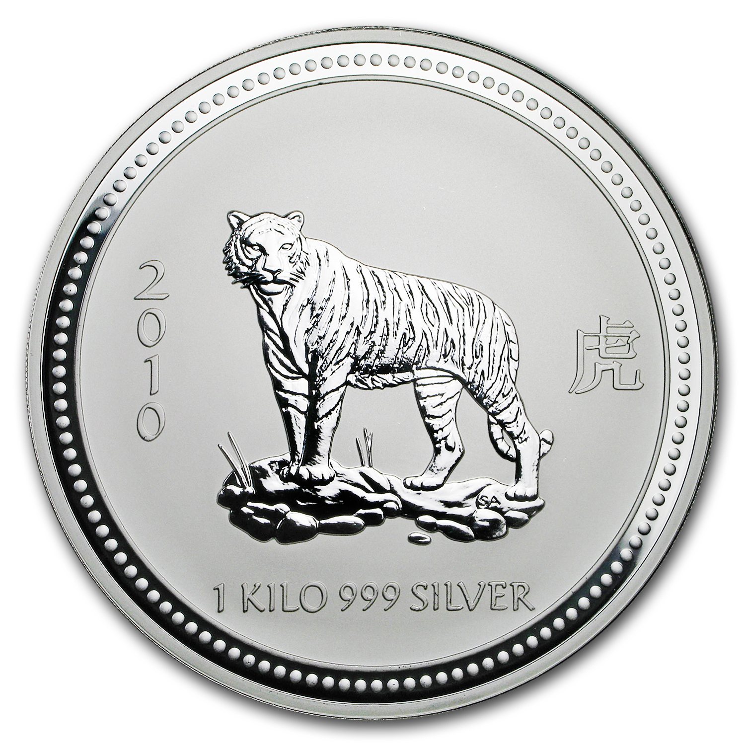 2010 Australia 1 kilo Silver Year of the Tiger BU (Series I)