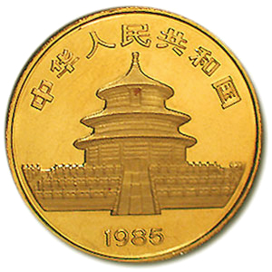 China 1 oz Gold Panda (Abrasions)