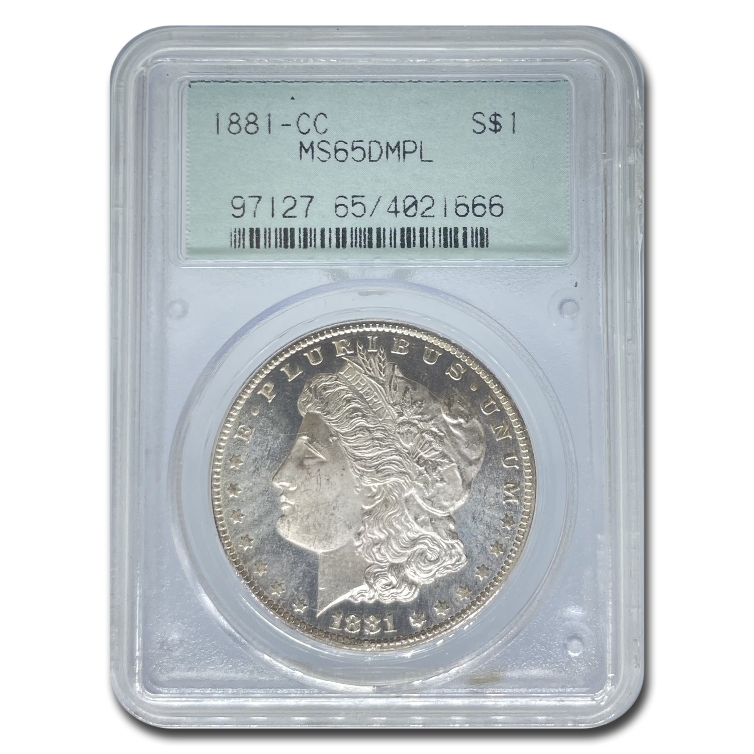 1881-CC Morgan Dollar - MS-65 DMPL Deep Mirror Proof Like PCGS