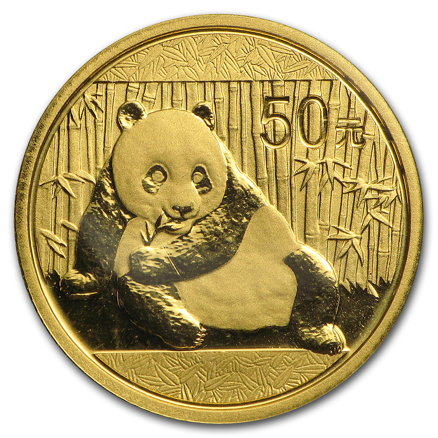 China 1/10 oz Gold Panda BU (Random Year, Sealed in Plastic)