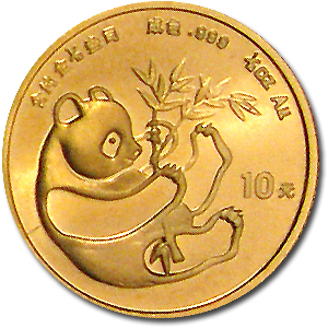 1/10 oz Gold Chinese Panda BU - Random Year (Not Sealed)