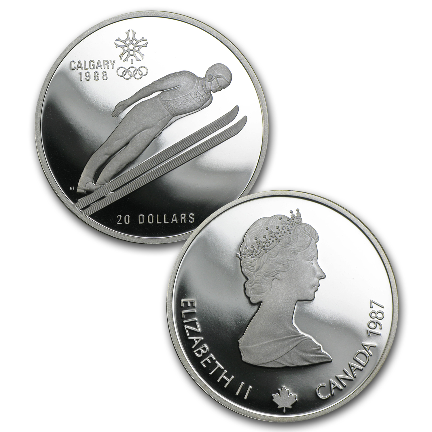 1988 Canada 10-Coin $20 Silver Olympics Commem Proof Set