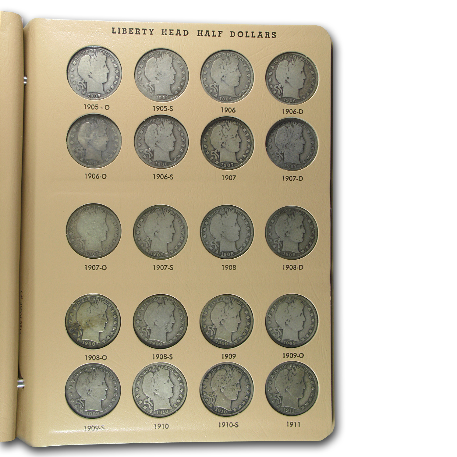 1892-1915 Barber Half Dollar Set Complete (In Dansco Album)