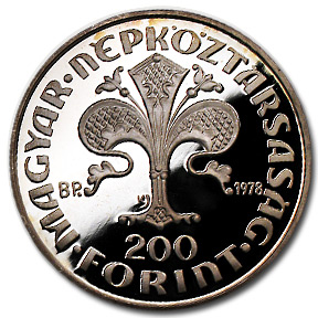 Hungary Silver 200 Forint Proof/Unc Random Dates ASW .5761