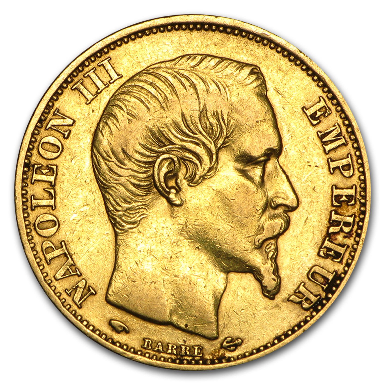 1852-1860 France Gold 20 Francs Napoleon III Avg Circ