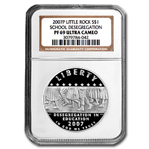 2007-P School Desegregation $1 Silver Commem PF-69 NGC