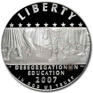 2007-P School Desegregation $1 Silver Commem PF-70 NGC
