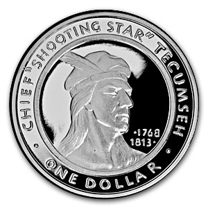 1 oz Silver Rounds - Shawnee Tribe (2002/Proof)
