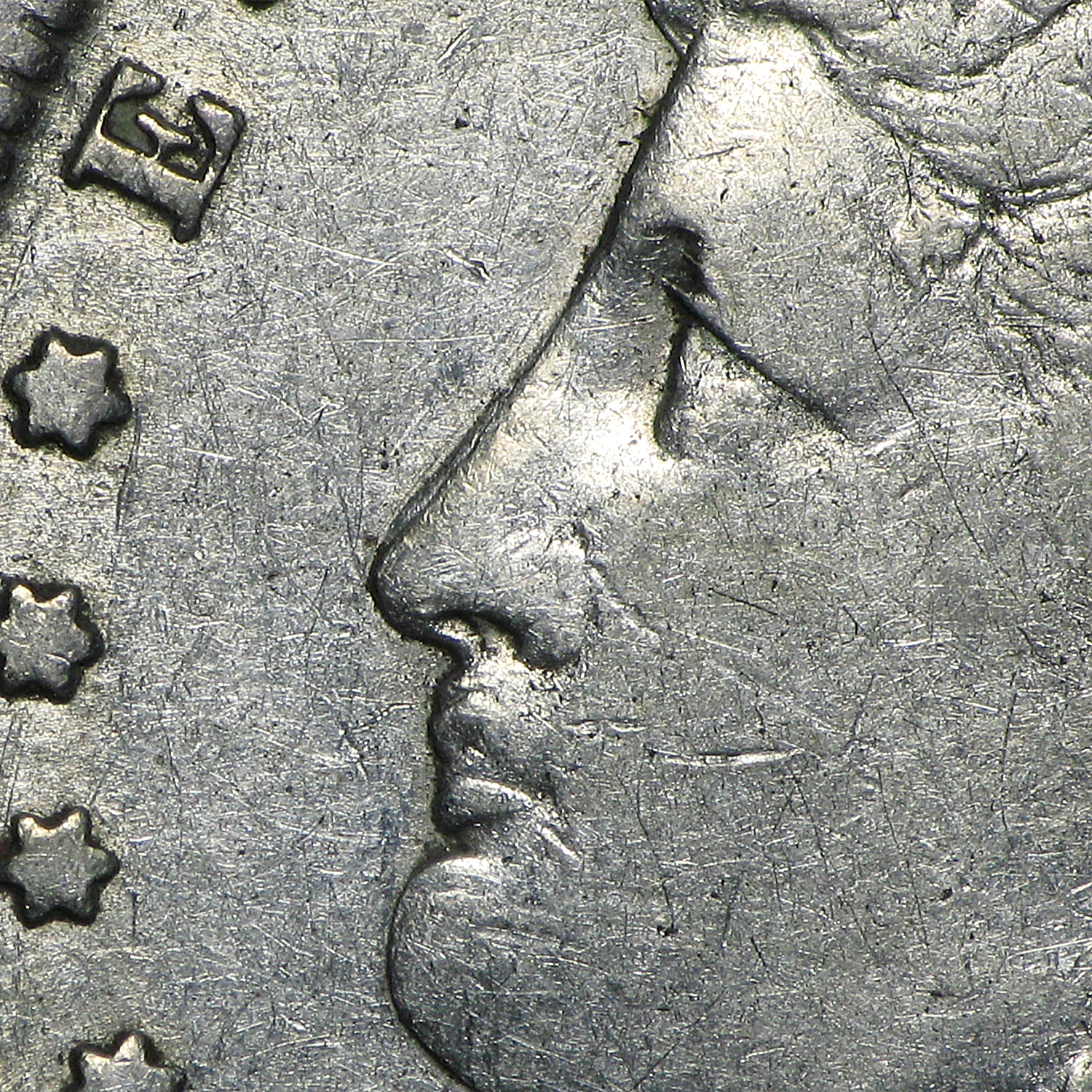 1888-O Morgan Dollar - Very Fine HOT LIPS VAM-4 Doubled Die