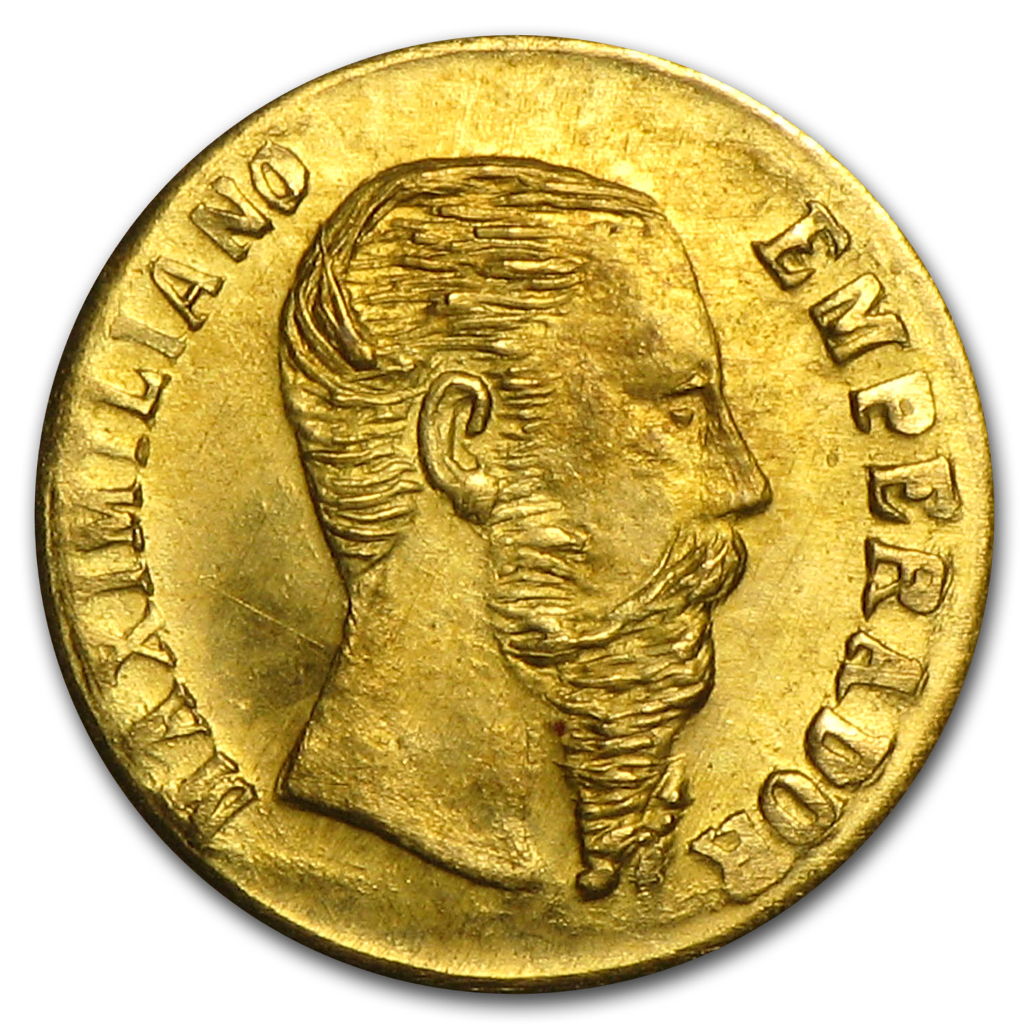 1865-B Mexican Mini Gold Coin Maximiliano Replica (11 mm)