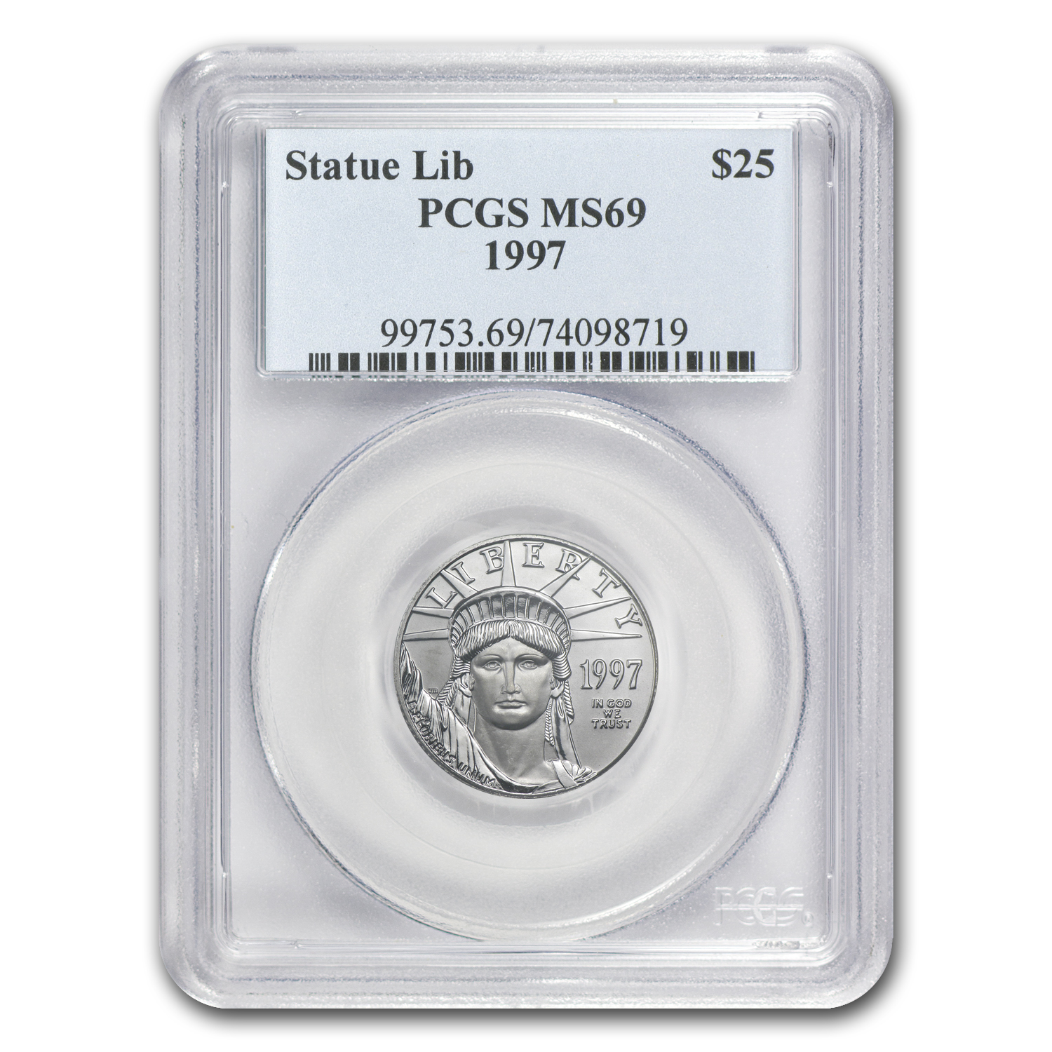 1997 1/4 oz Platinum American Eagle MS-69 PCGS