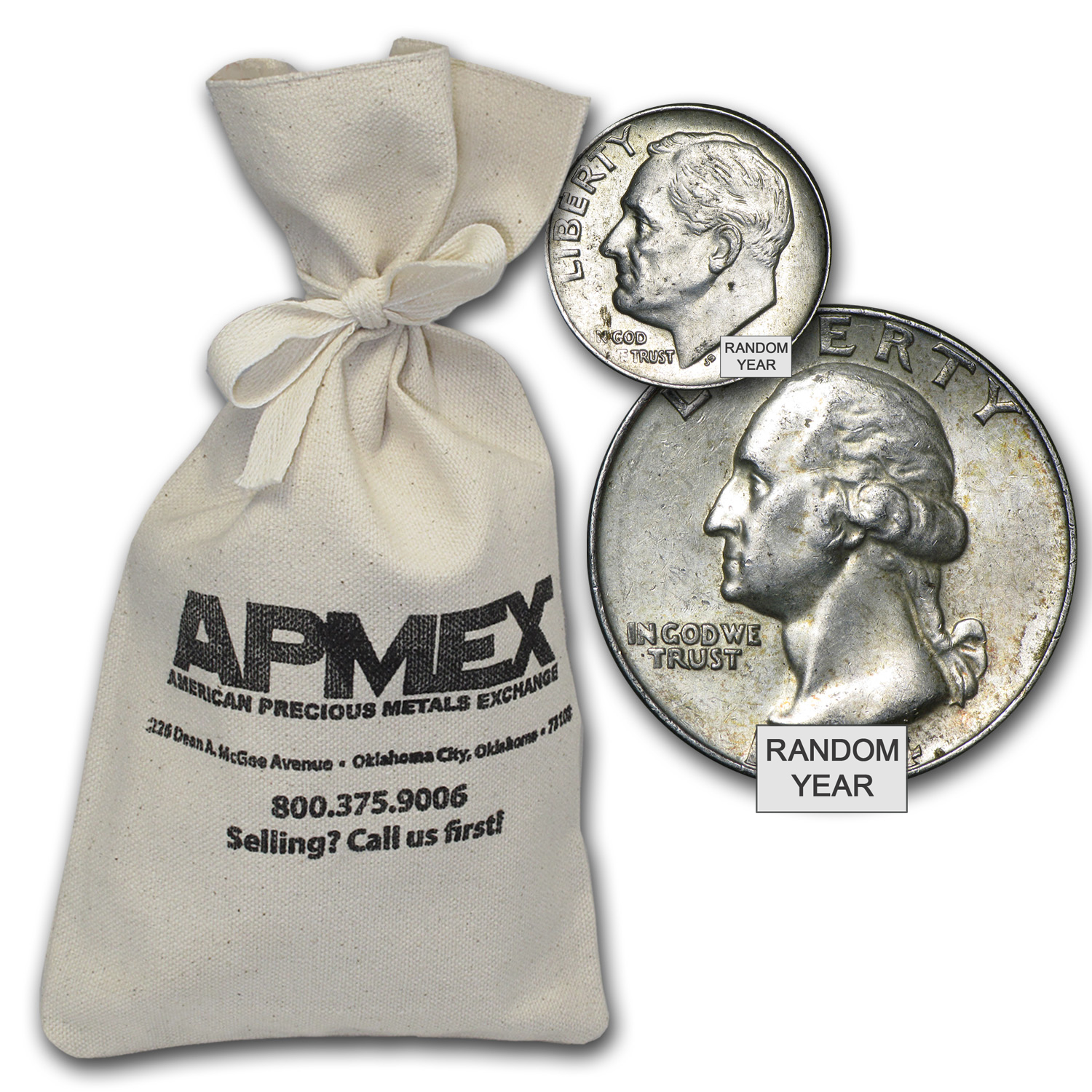 90% Silver Coins - $250 Face-Value Bag