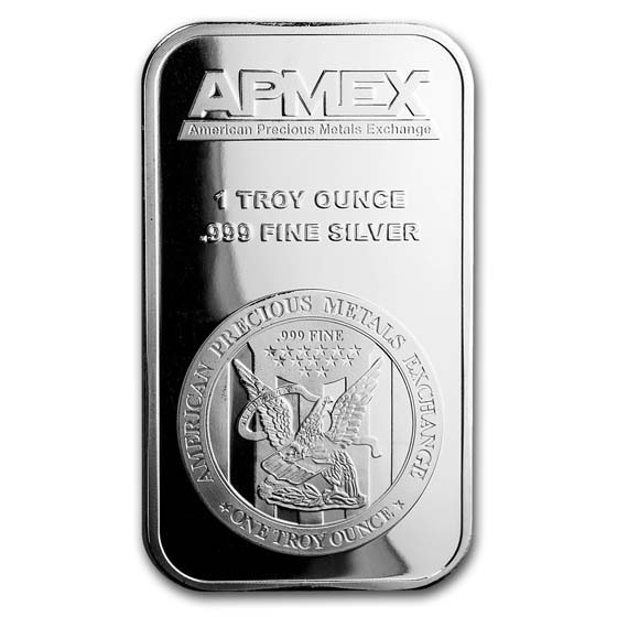 1 oz Silver Bar - APMEX (Aug 21st)