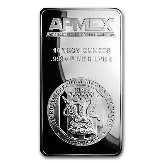 Apmex 10 Oz Silver Bar For Sale Online 999 Fine Silver