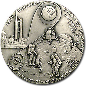 4.98 oz Silver Rounds - APOLLO 12