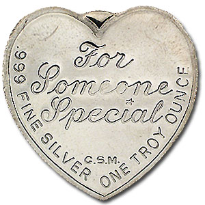 1 oz Silver Heart - For Someone Special (Rose)