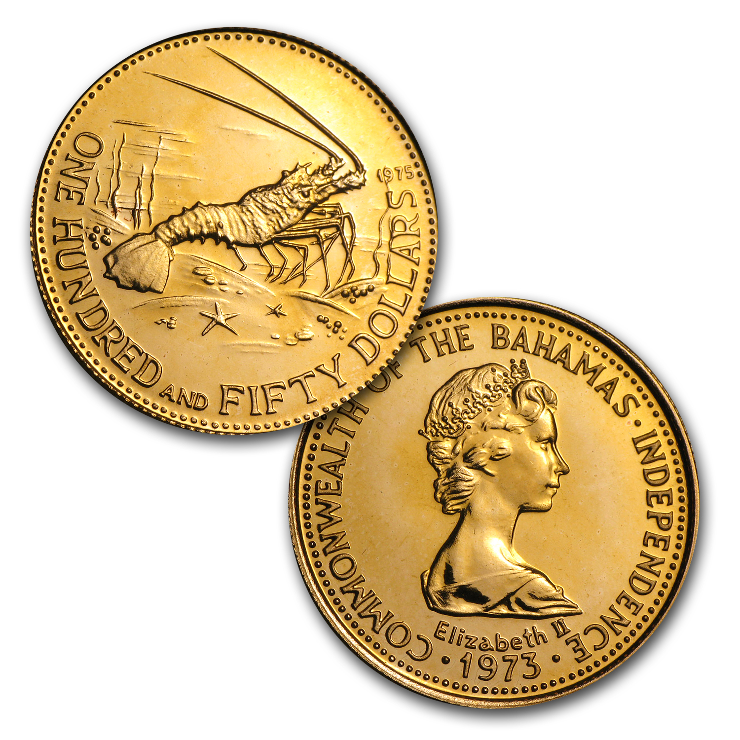 Bahamas 1975 4 Piece Gold Set BU AGW 0.8048