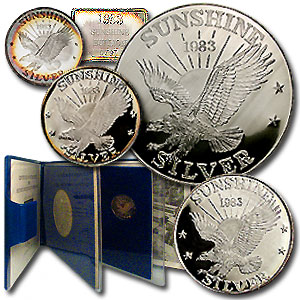 6.75 oz Silver Round - Sunshine Mining (1983 Proof Set)