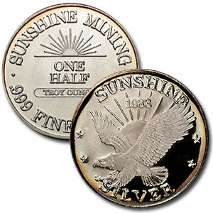 6.75 oz Silver Rounds - Sunshine Mining (1983 Proof Set)
