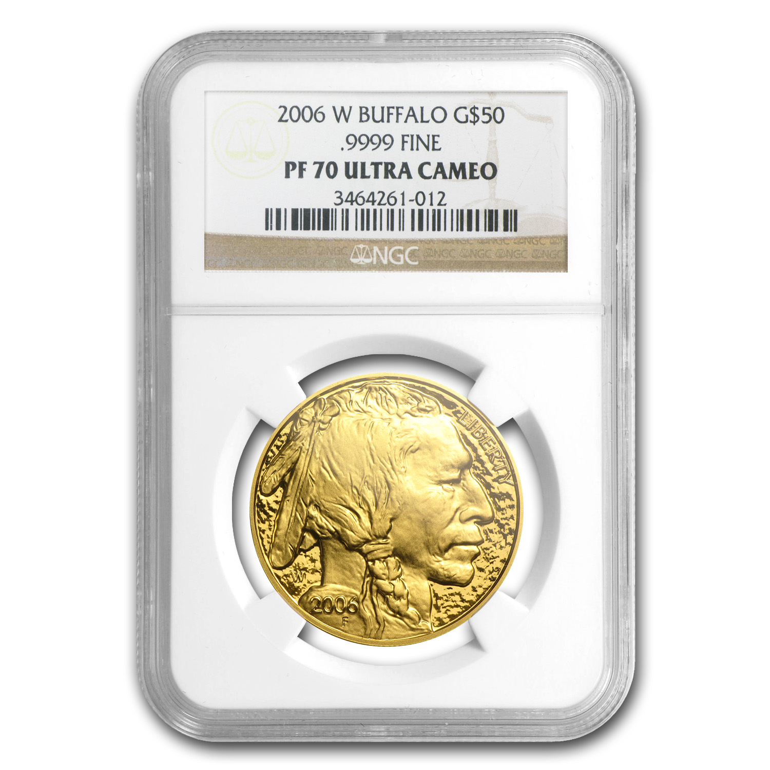 2006-W 1 oz Proof Gold Buffalo PF-70 NGC