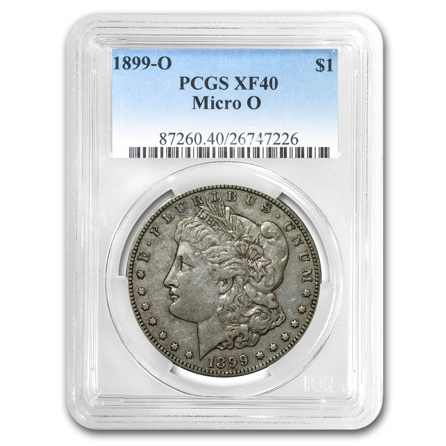 1899-O Morgan Dollar XF-40 PCGS (Micro O, Top-100)
