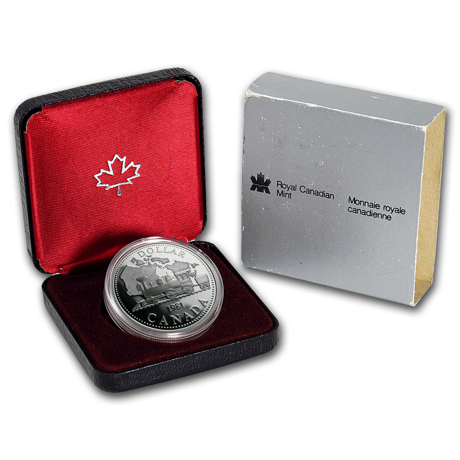 1981 Canada Silver Dollar Transcontinental Railroad Proof