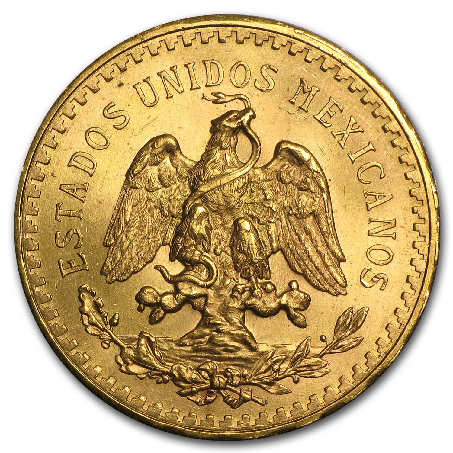 1943 Mexico Gold 50 Pesos AU