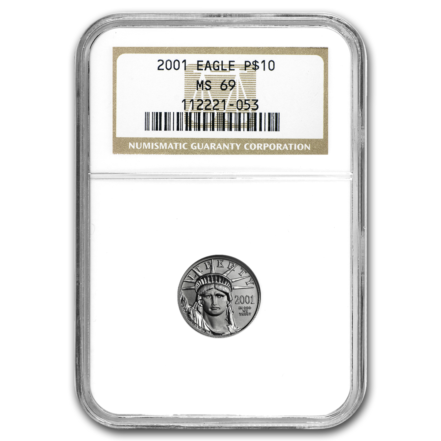 2001 4-Coin Platinum American Eagle Set MS-69 NGC