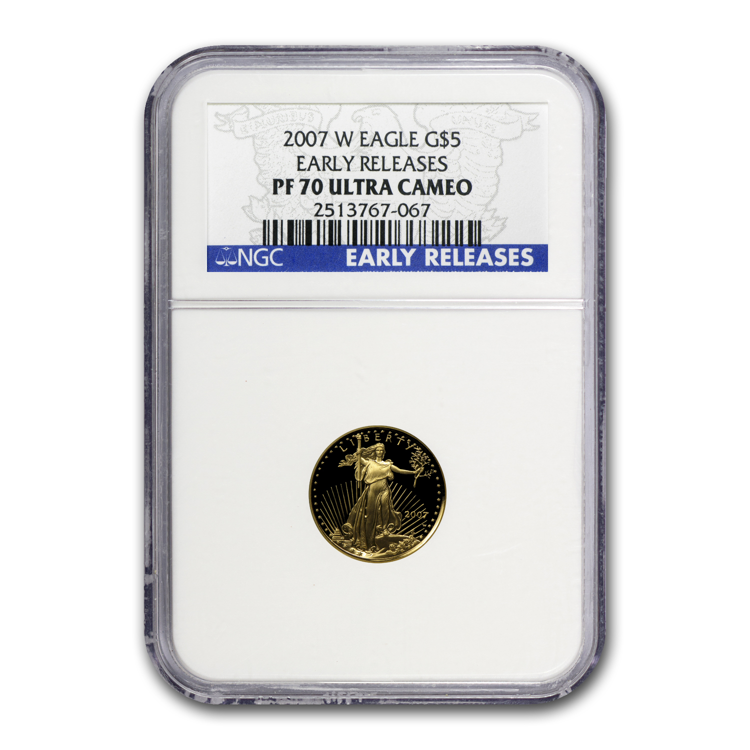 2007-W 1/10 oz Proof Gold American Eagle PF-70 NGC (ER)