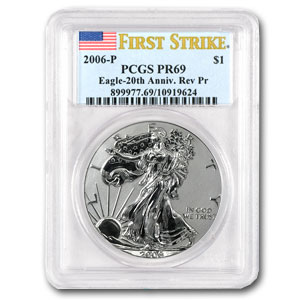 2006-W 3-Coin Silver Eagle Set MS/PR-69 PCGS (FS)