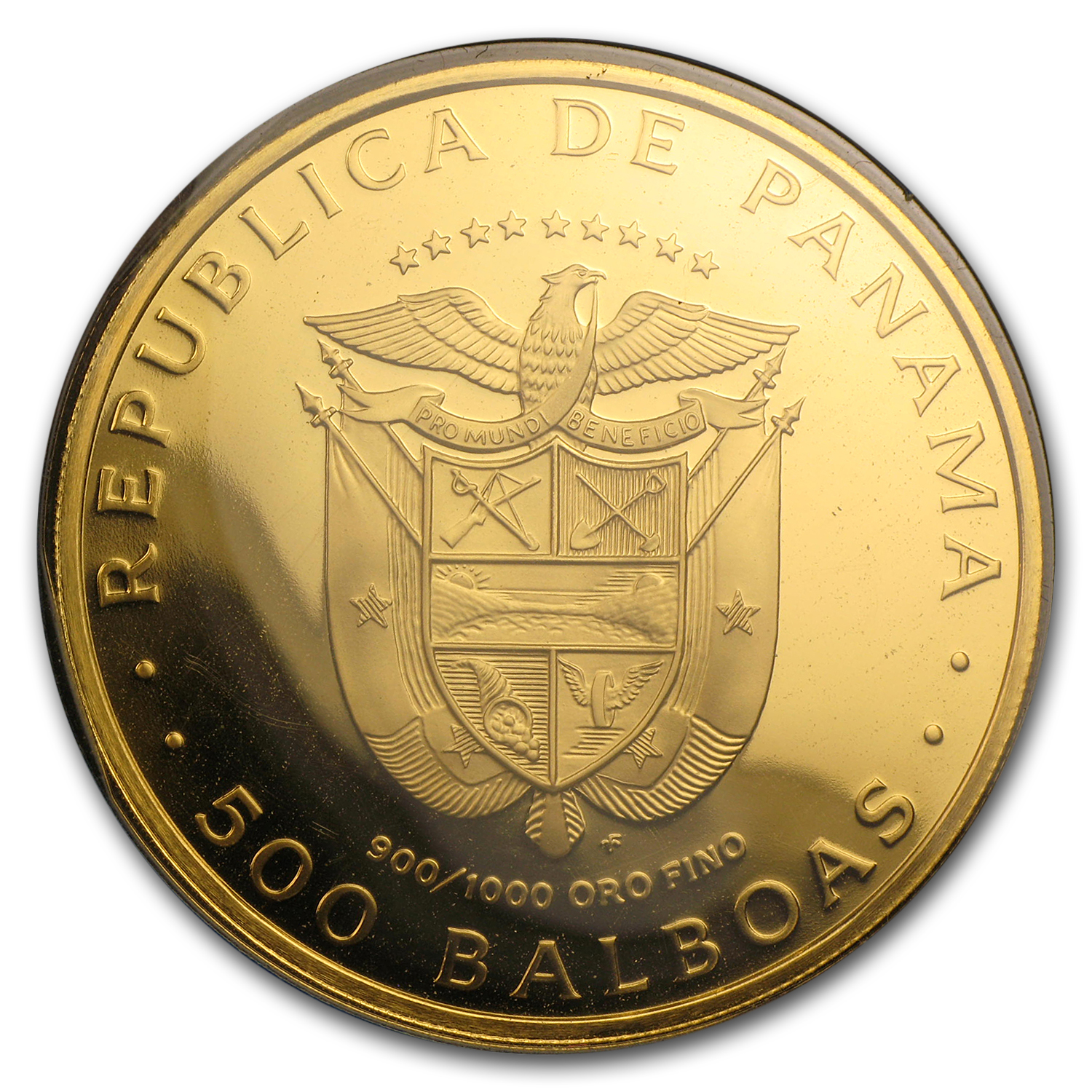 1975 Panama Proof Gold 500 Balboas
