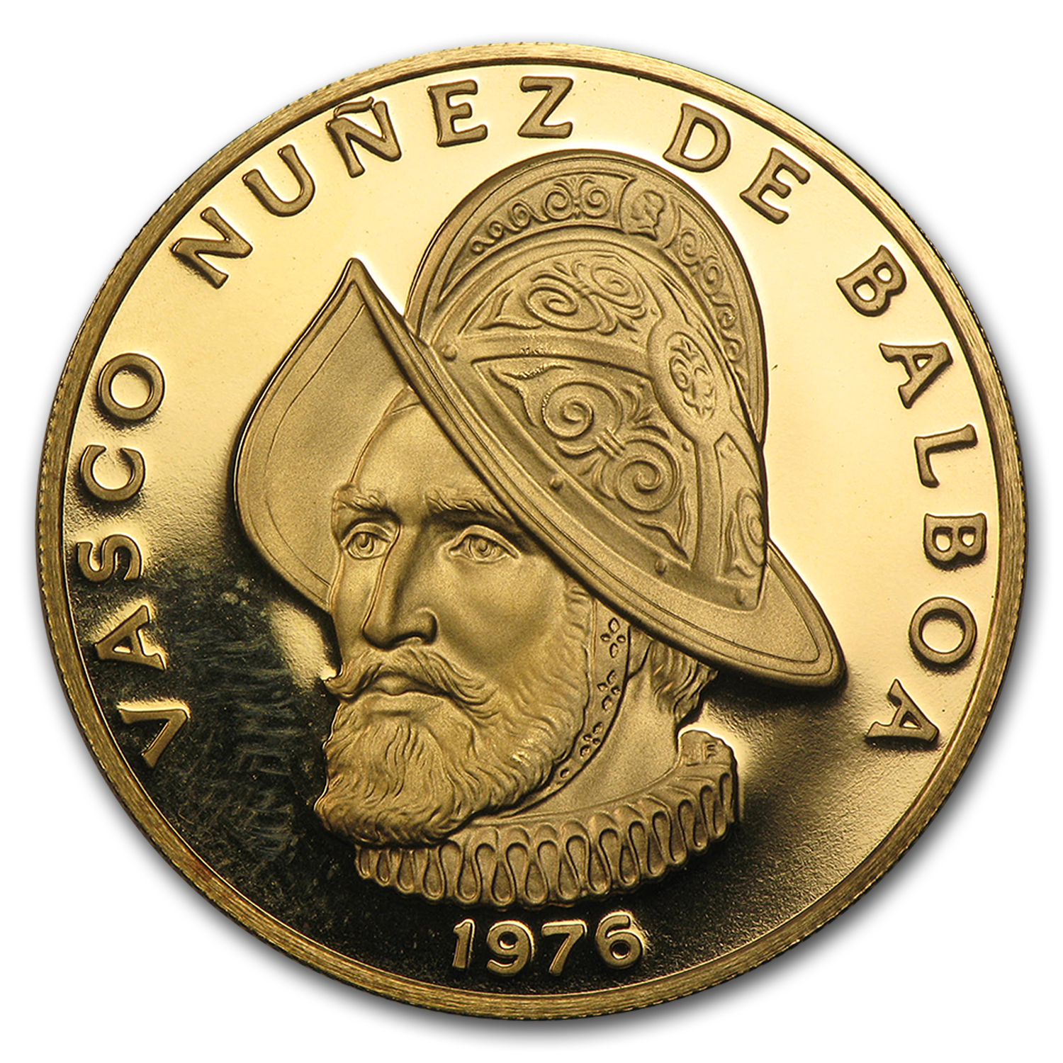 1976 Panama Proof Gold 100 Balboas Vasco Núñez de Balboa