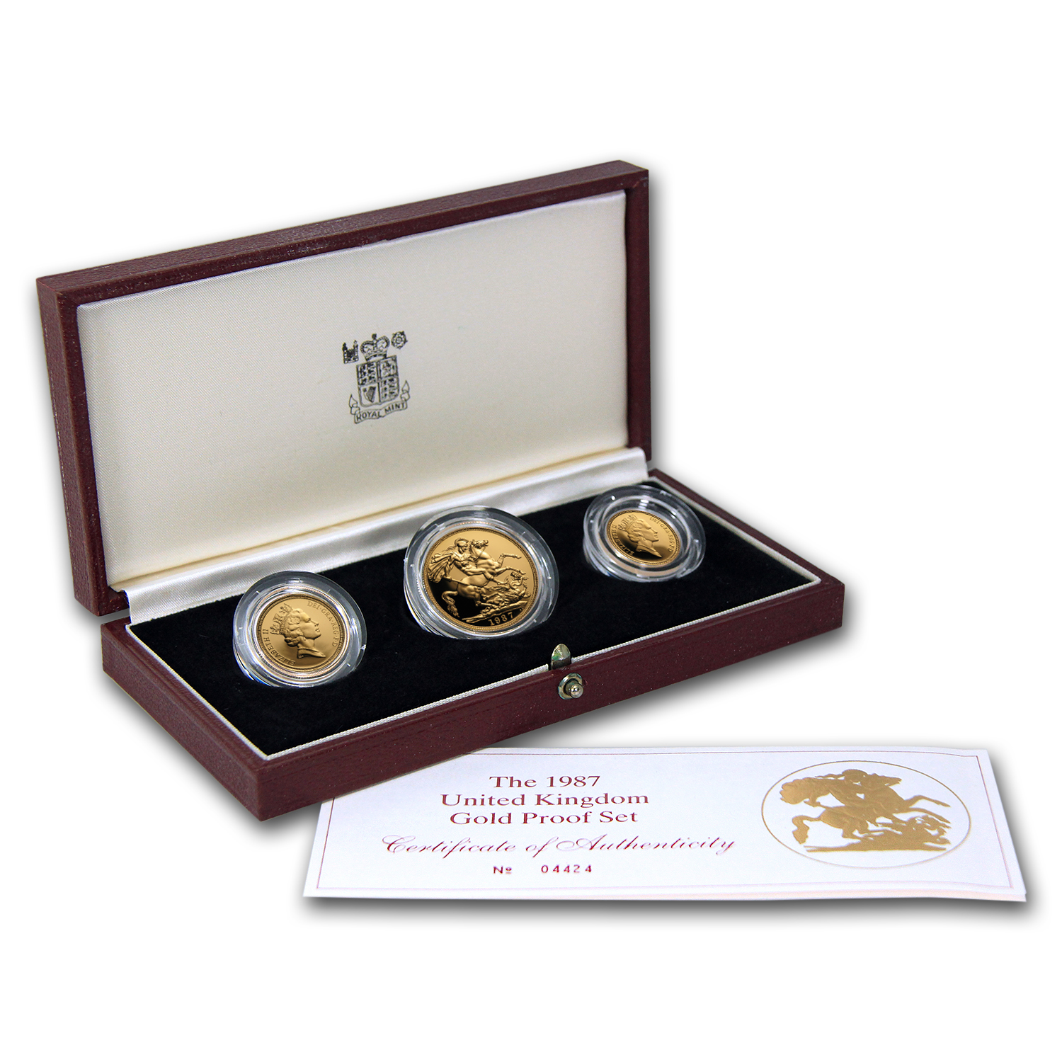 1987 Great Britain 3-Coin Gold Sovereign Proof Set