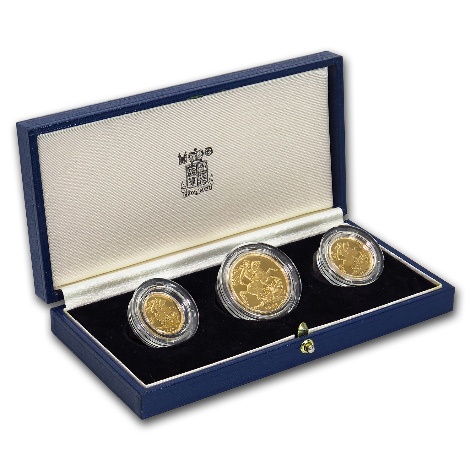 1988 Great Britain 3-Coin Gold Sovereign Proof Set