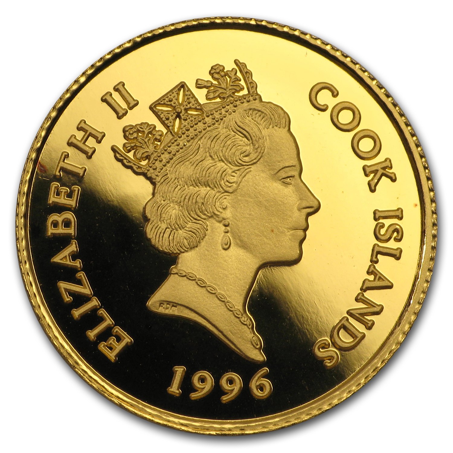 Cook Islands 1996 25 Dollar Gold AGW 0.10