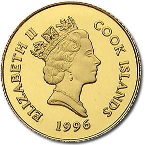 1996 Cook Islands Gold $100 National Parks Proof (Eagle & Bear)
