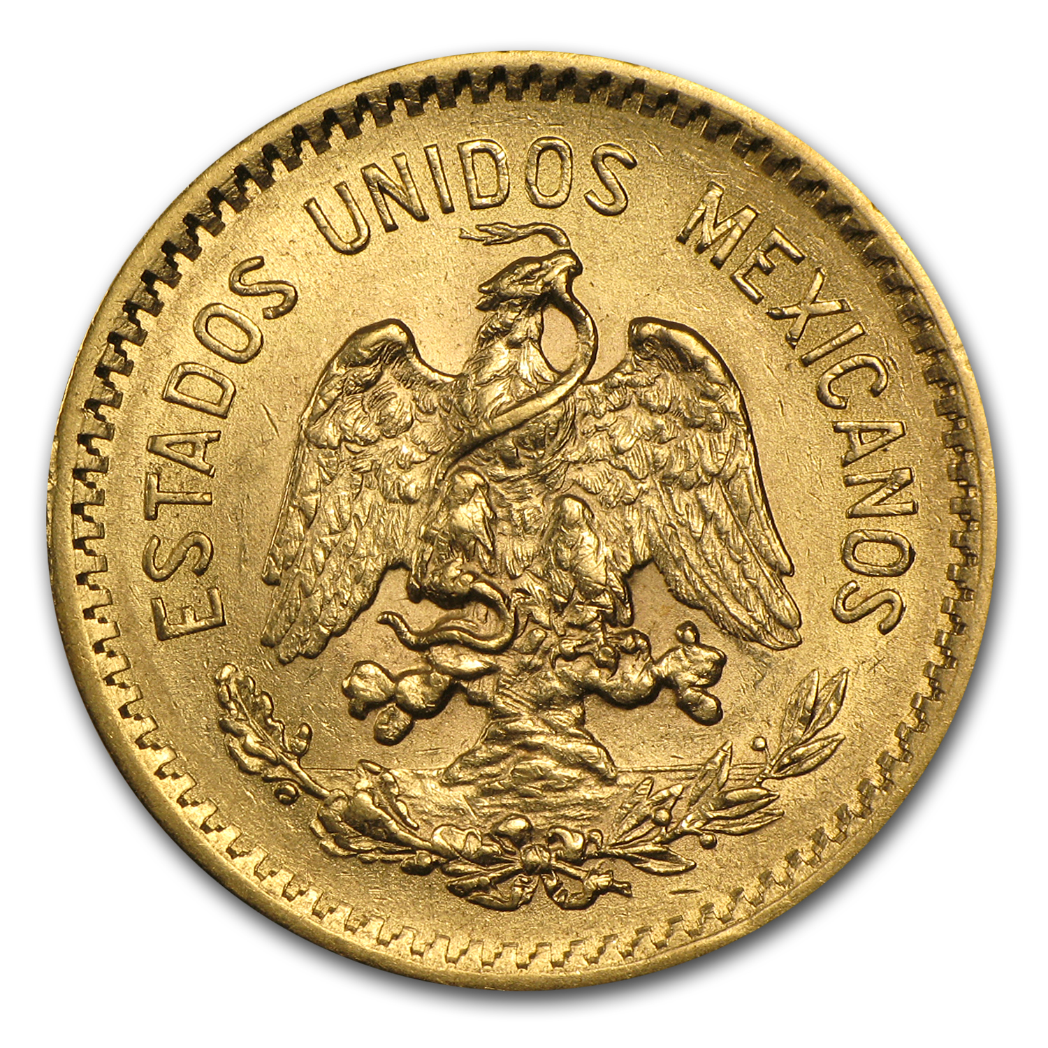 1910 Mexico Gold 10 Pesos AU
