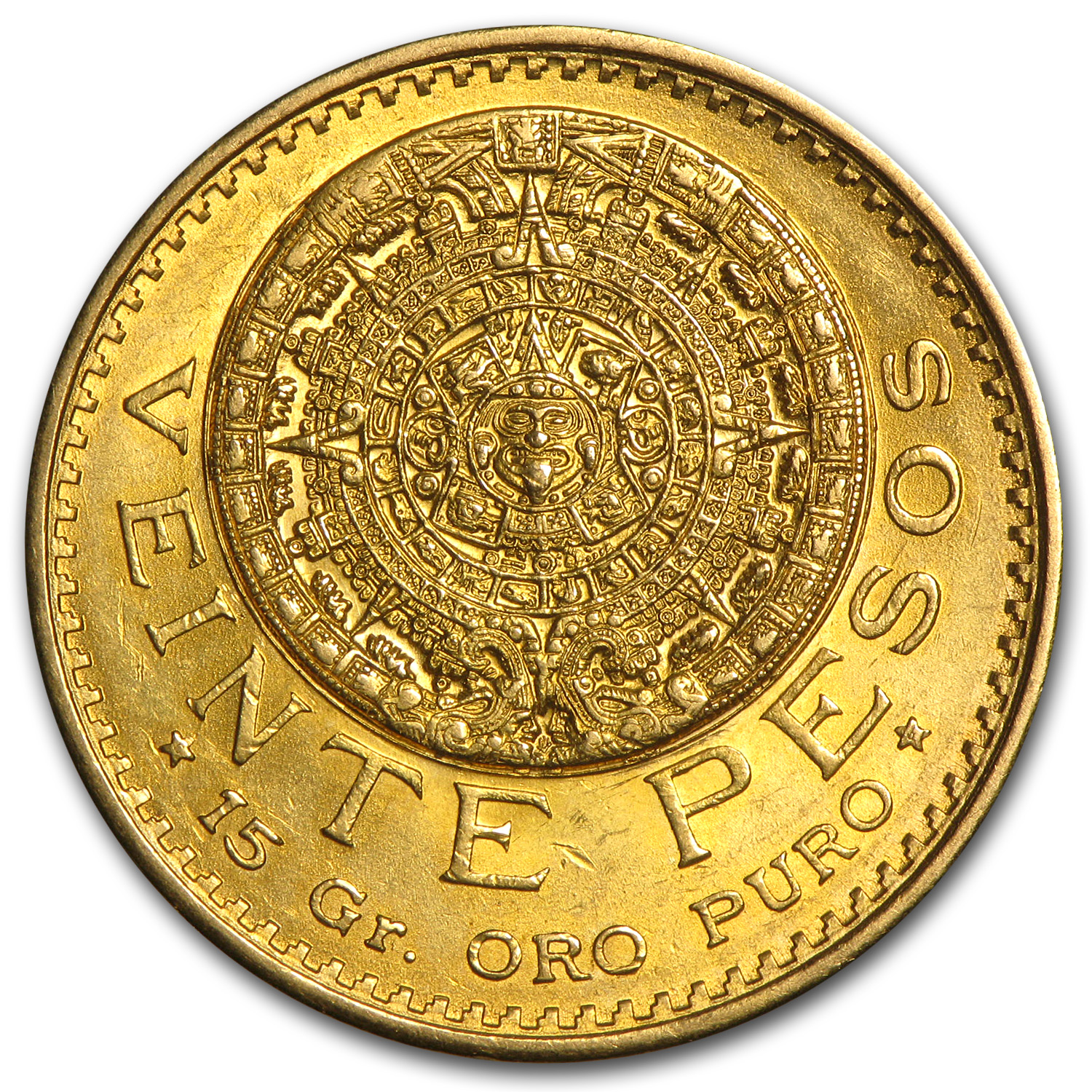 1917 Mexico Gold 20 Pesos AU