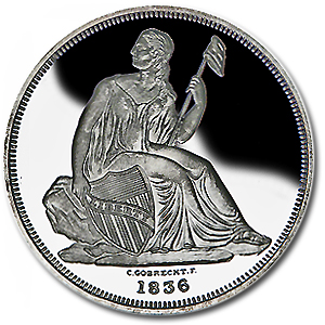 2 oz Seated Gobrecht Dollar (Replica) Silver Round .999 Fine