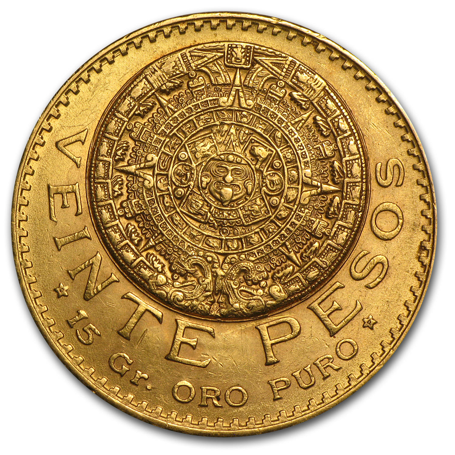 1918 Mexico Gold 20 Pesos AU