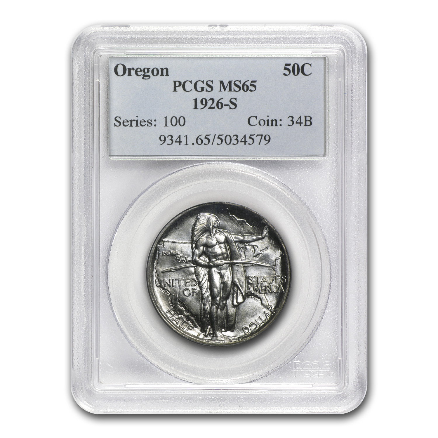 1926-S Oregon Commemorative Half Dollar MS-65 PCGS