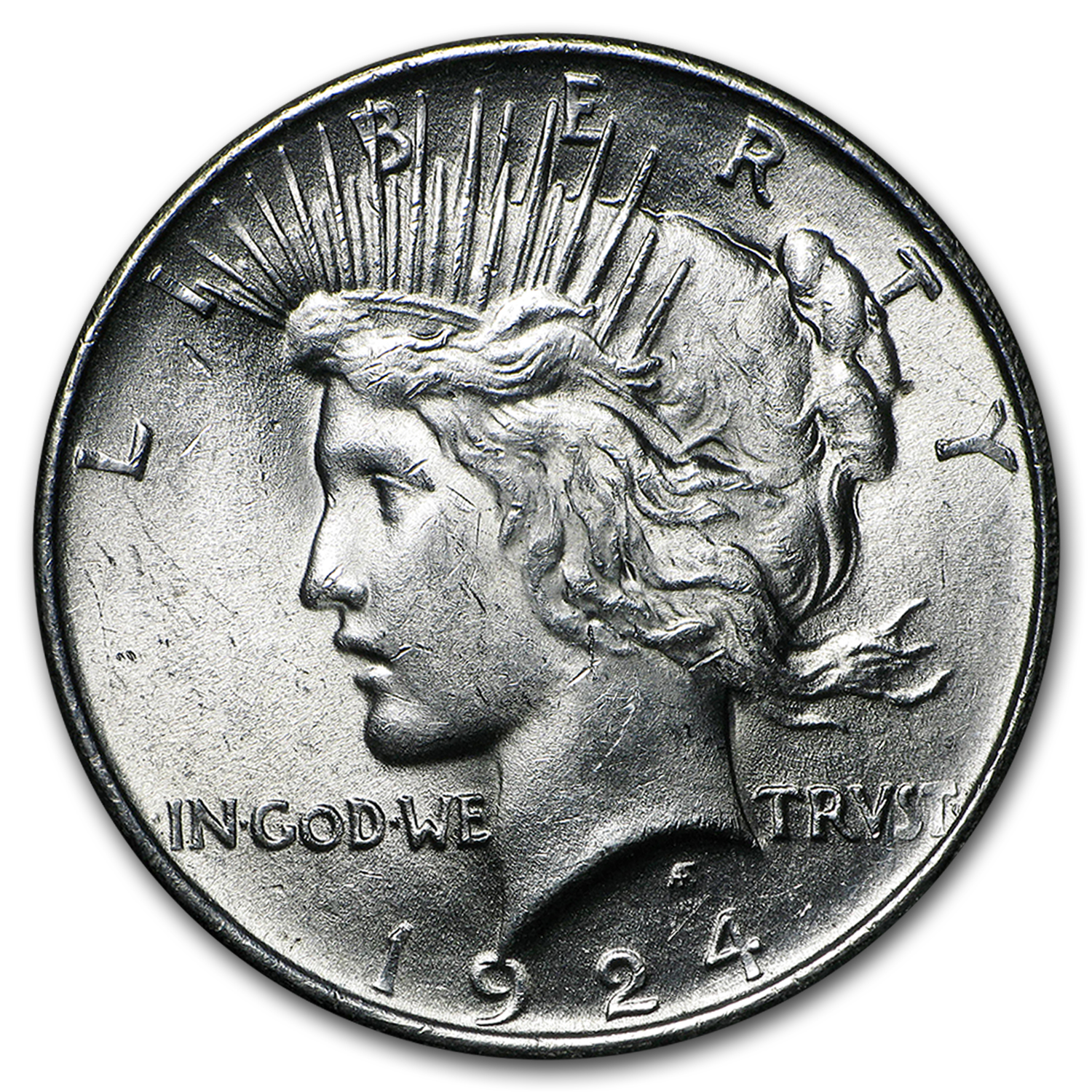 1924 Peace Dollar 20-Coin Roll BU